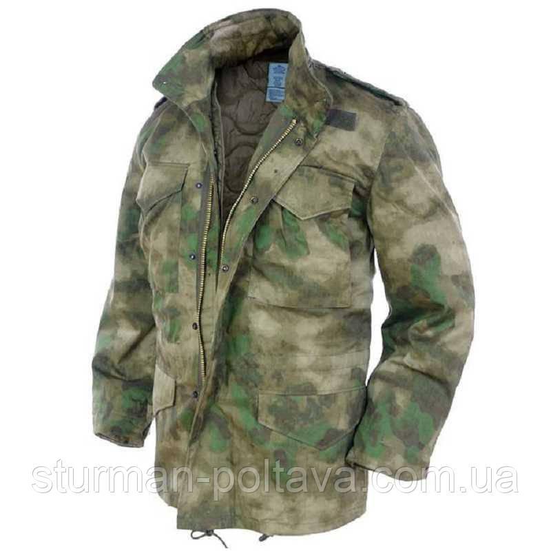 Куртка мужская зимняя  М-65 с подстежкой  цвет MIL-TACS FG   MIL-TEC  Германия