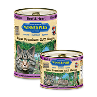 Winner Plus (Виннер Плюс) консервы для кошек с говяжьим сердцем, 395 г