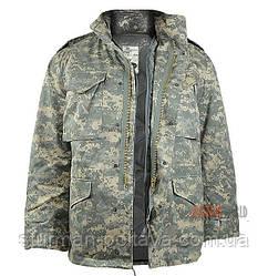 Куртка  мужская зимняя М-65 с подстежкой Mil-Tec цвет AT-didgital  поликотон   Германия