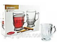 """Набор кружек для чая 65 мл стеклянный """"Istanbul 55871"""" 6 предметный."""