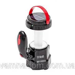 Фонарь аккумуляторный 1LED 1W + 12 LED INTERTOOL LB-0111