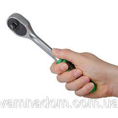 """Рукоятка с храповым механизмом на 72 зуба 3/8"""", Cr-v. INTERTOOL HT-2125"""