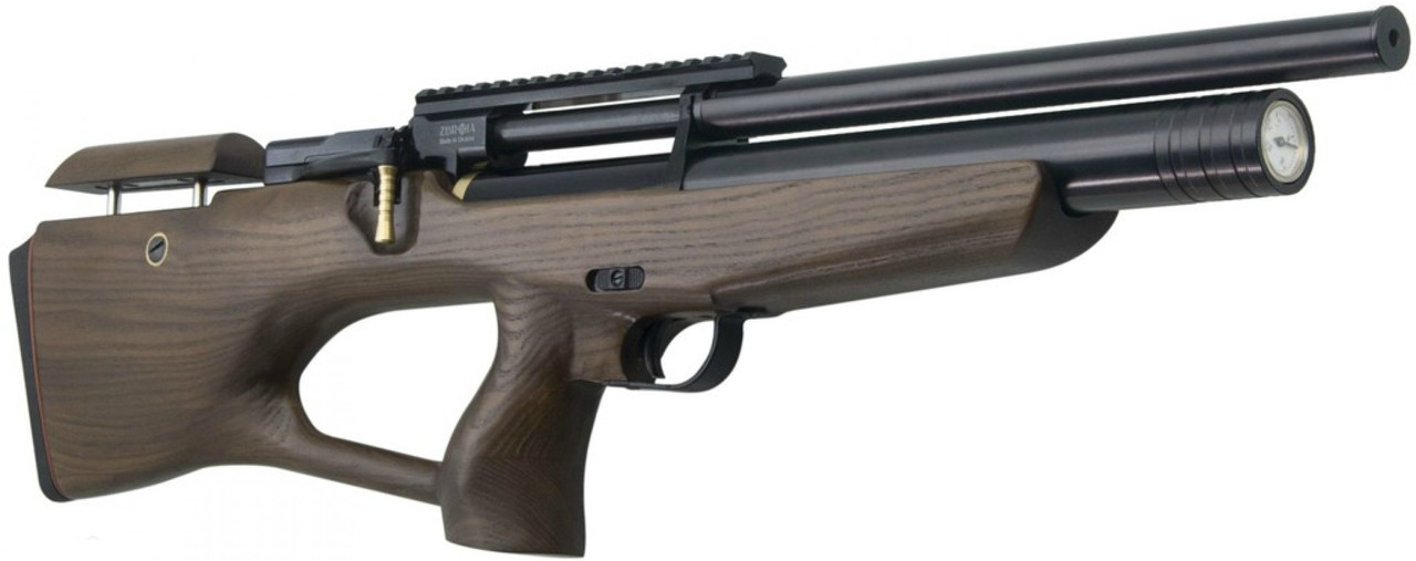 Пневматическая винтовка PCP КОЗАК 330/180 4,5 мм (черный/коричневый)