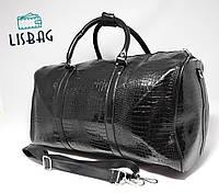 5f07d38efed7 Черная Дорожная сумка с 3D эффектом кожа PU толстая (34 литра) Товар Уценен