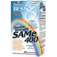 Doctor's Best, SAM-e (S-Adenosyl-L-Methionine) 400, Двойная сила, 60 таблеток