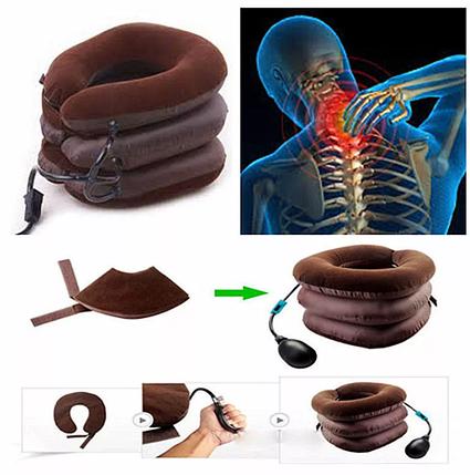 Надувной ортопедический воротник для шеи Tractors for cervical spine, фото 2