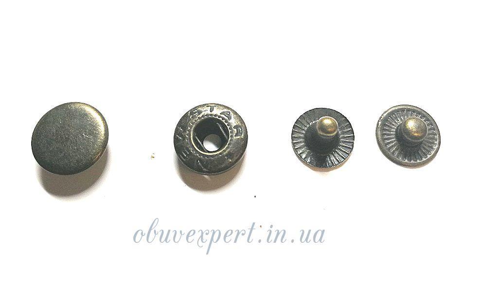Кнопка Альфа 12,5 мм Антик (10 шт)