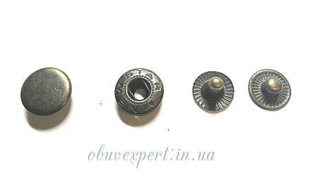 Кнопка Альфа 12,5 мм Антик (10 шт), фото 2