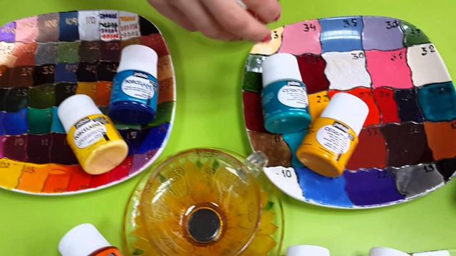 Краски для стекла и керамики