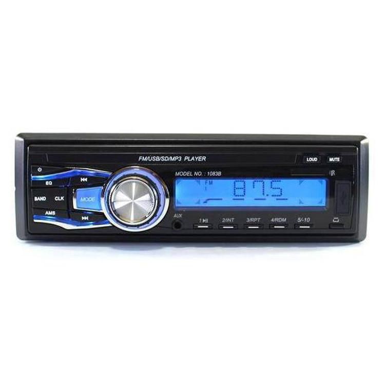 Многофункциональная автомобильная магнитола 1083 1 DIN USB FM МР3 SD автомагнитола со сьемной панелью пультом