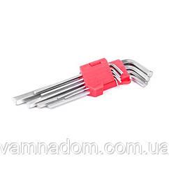 Набор Г-образных шестигранных удлиненных ключей Cr-V INTERTOOL HT-0602