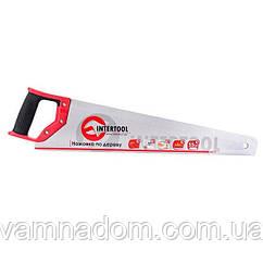 Ножовка по дереву c каленым зубом INTERTOOL HT-3103