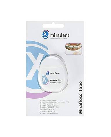 Mirafloss Tape CHX Miradent  (20 м) зубна  нитка-флос з хлоргексидином, фото 2
