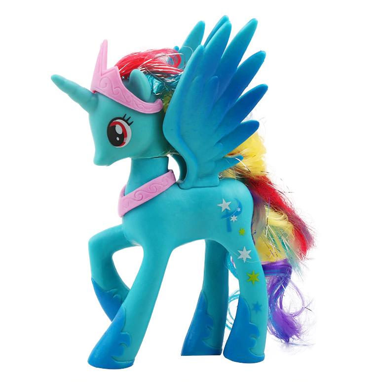 Пони 14 см. My Little Pony Мой маленький пони Голубая Игрушка для девочек Единорог