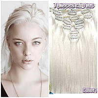 Волосы накладные на заколках трессы пряди блонд