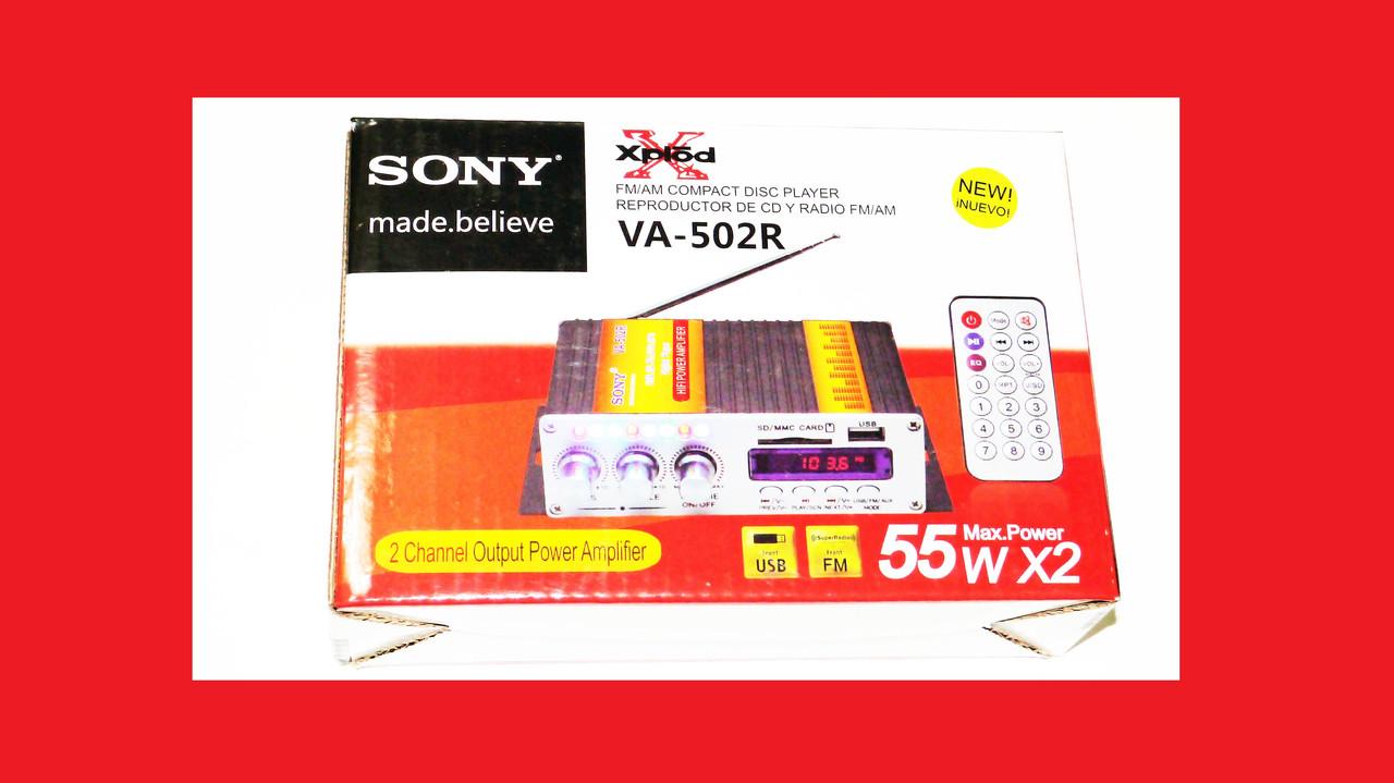 Усилитель Sony VA-502R - USB, SD-карта, MP3 2х канальный