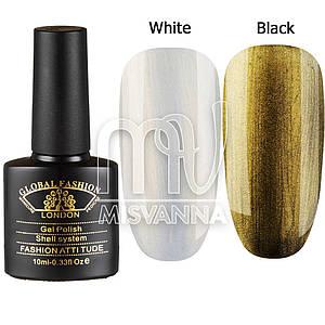 Гель лак Global Fashion Shell System BK03, 10 мл золотой перламутр