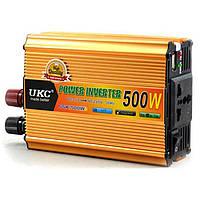 Автомобильный преобразователь UKC 500Вт с 12В на 220В Авто Инвертор Конвертор 12V 220V автоинвертор напряжения, фото 1
