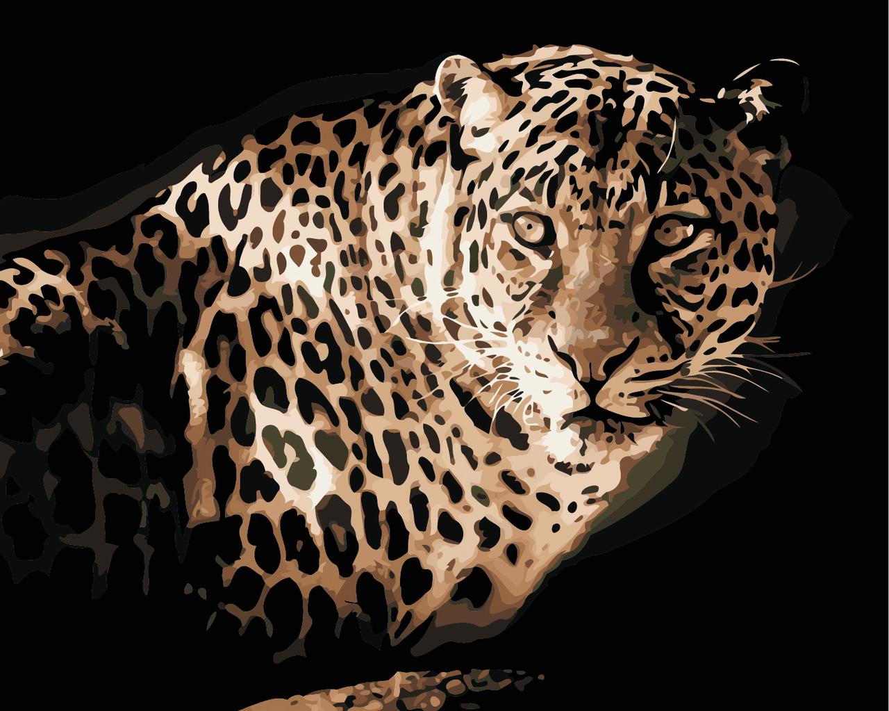 Художественный творческий набор, картина по номерам Леопард, 50x40 см, «Art Story» (AS0418)