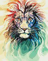 Художній творчий набір, картина за номерами Кольоровий лев, 40x50 см, «Art Story» (AS0404), фото 1