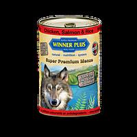 Winner Plus (Виннер Плюс) консервы для собак с цыпленком лососем и рисом 800 г