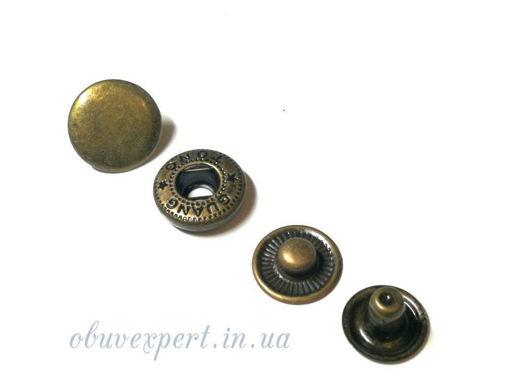 Кнопка Альфа 15 мм Антик (10 шт)
