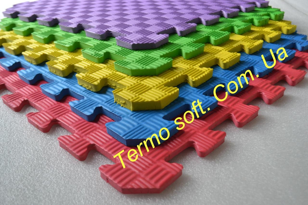 Коврик-пазл (мягкий пол) для детских комнат и спортивных залов, 50х50х1см (УКРАИНА)