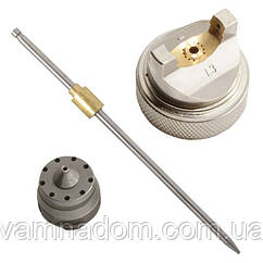 Комплект форсунки 1.4мм для краскопульта HVLP PT-0102 (дюза, воздушная головка, игла) INTERTOOL PT-2001