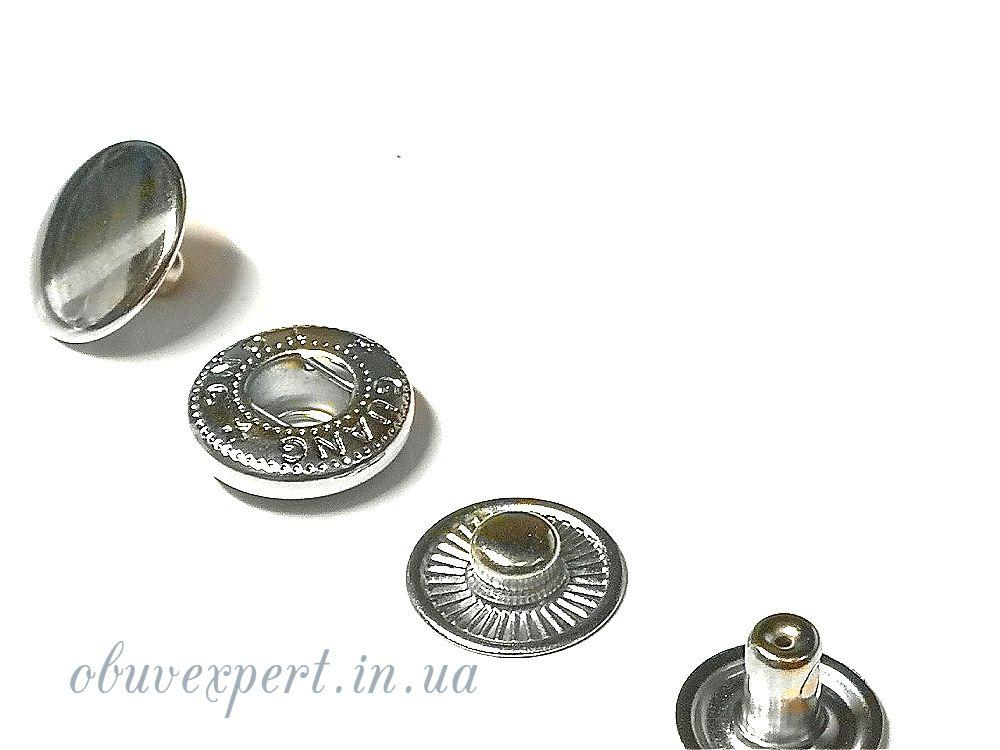 Кнопка Альфа 15 мм Никель (10 шт)