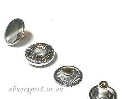Кнопка Альфа 15 мм Никель (10 шт), фото 2