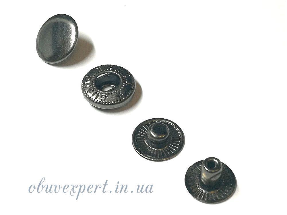 Кнопка Альфа 15 мм Черный никель (10 шт)
