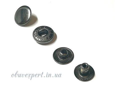 Кнопка Альфа 15 мм Черный никель (10 шт), фото 2