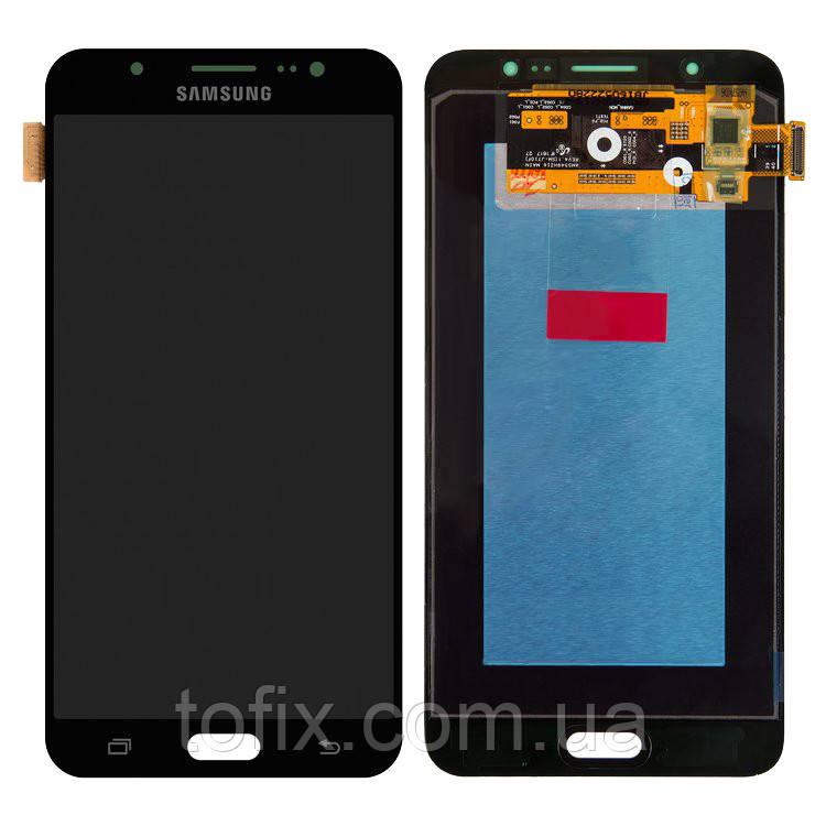 Дисплейный модуль (экран и сенсор) для Samsung Galaxy J7 (2016) J710 черный, оригинал #GH97-18931B
