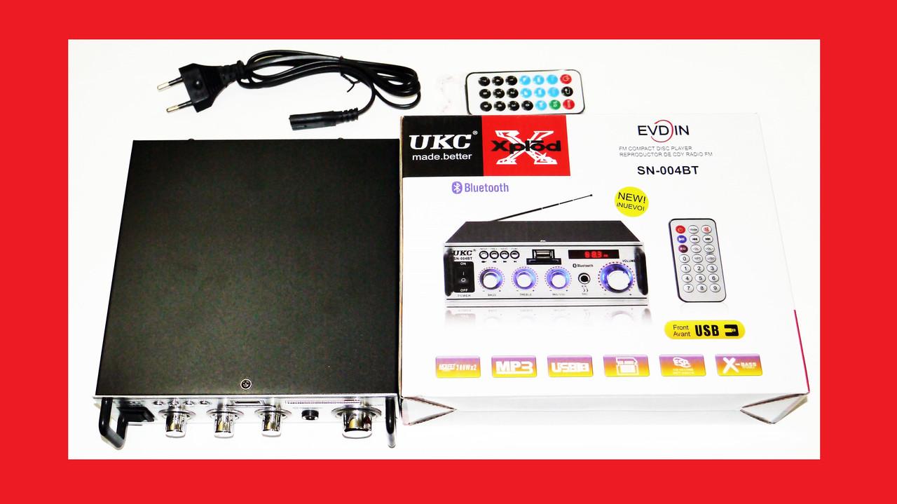 Підсилювач звуку UKC SN-004BT FM USB Bluetooth + Караоке
