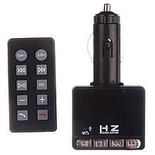 Автомобильный FM трансмиттер с BlueTooth HZ H49BT модулятор microSD SD MP3 USB пульт управления