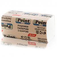 Бумажные полотенца листовые, белые, V-укладка, 2 слоя,  EcoPoint, Standart. VS-160.