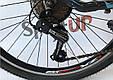 """Горный велосипед CROSSRIDE CROSS 6000 МТВ 26"""" Черный/Голубой, фото 5"""