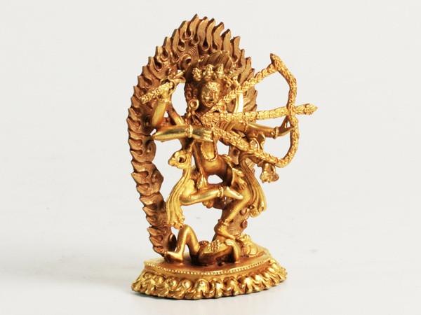 Статуя. Бронза. Мини Курукула (10х6х3 см) Золото
