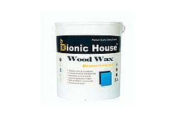 """Краска-Воск для дерева """"Wood Wax"""" Bionic House декоративная атмосферостойкая и устойчивая к истиранию 2,5л"""