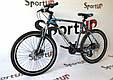 """Горный велосипед CROSSRIDE CROSS 6000 МТВ 26"""" Черный/Голубой, фото 2"""
