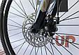 """Горный велосипед CROSSRIDE CROSS 6000 МТВ 26"""" Черный/Голубой, фото 8"""