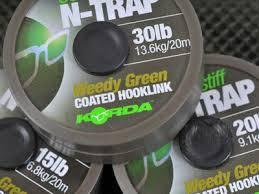 Поводковый матеріал Korda N Trap Soft 30 lb Green