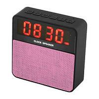 Компактная колонка JBL T1 bluetooth pink + часы