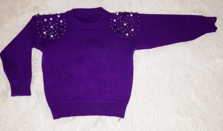 Костюм для девочки кофта c юбкой цвет фуксия размер  104 116 122, фото 2