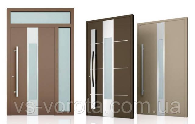 Современные двери для дома РИТЕРНА из алюминия дизайн входной двери в стиле модерн
