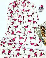 Фланелевая байковая Пижама.Одежда для сна и дома.Комплект для сна и дома.Хлопок.Жіноча піжама
