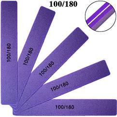 Пилка Баф Фиолетовая 100/180 для Гель Лака Профессиональная Упаковкой на 25 шт.