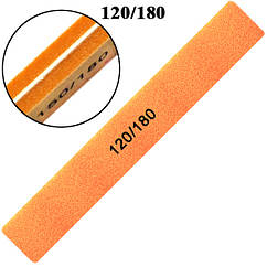 Пилка Баф Маникюрный 120/180 для Гель Лака Оранжевый Профессиональный, Пилки для Ногтей