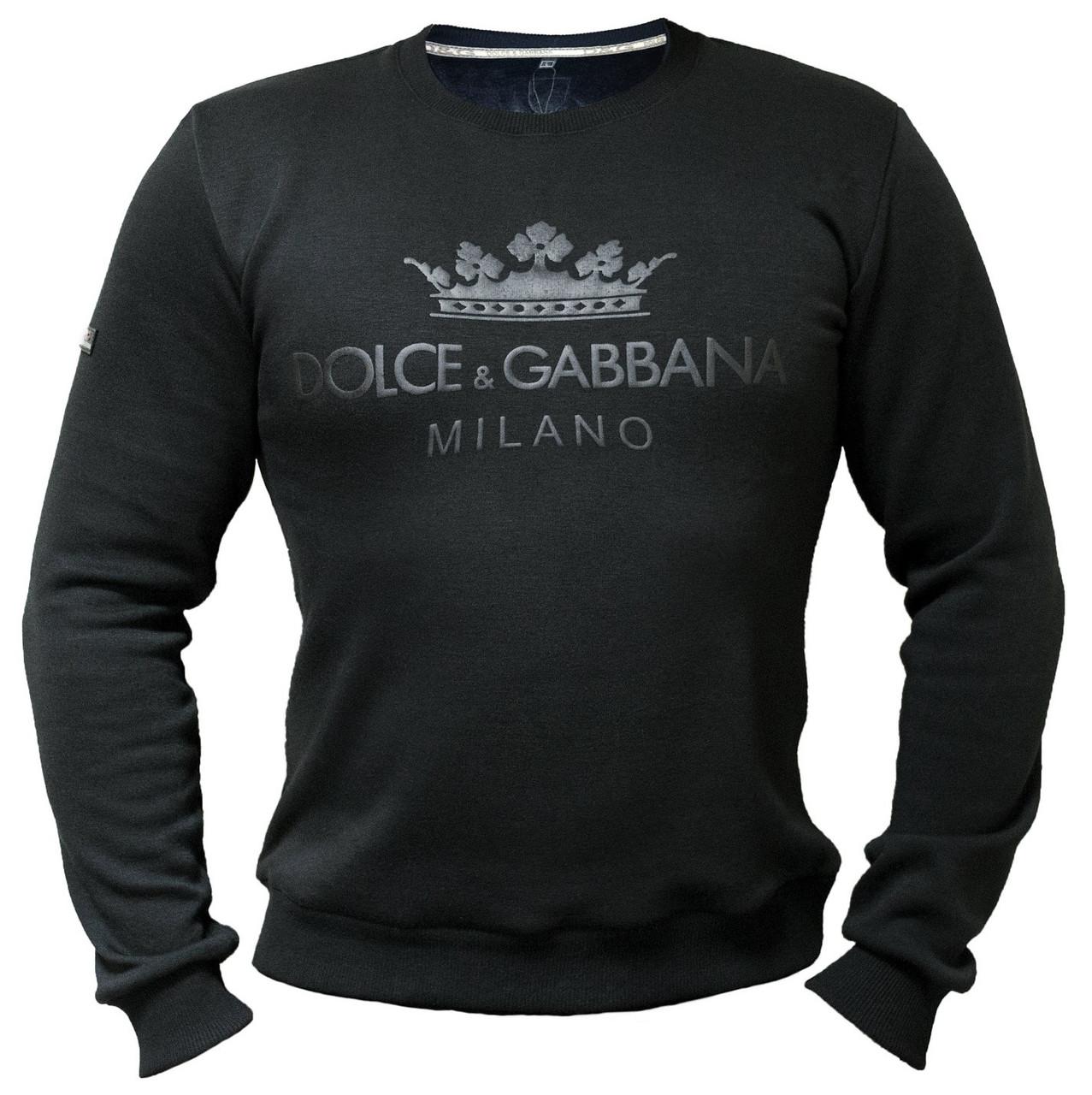 Мужской свитшот Dolce & Gabbana трехнитка на флисе