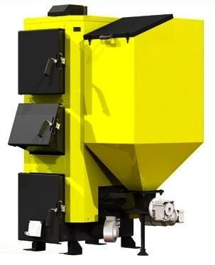 Комбинированный пеллетный котел KRONAS COMBI 42 кВт с горелкой и шнеком (дрова и пеллеты)